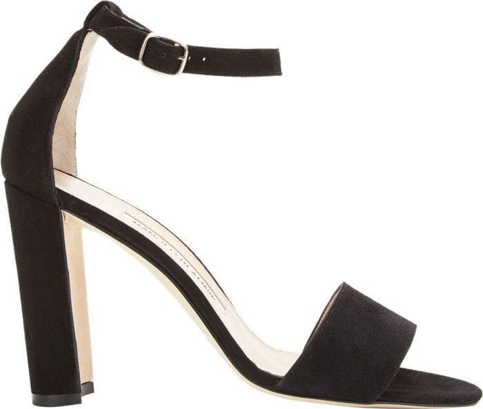 Manolo Blahnik Lauratopri Ankle-Strap Sandals
