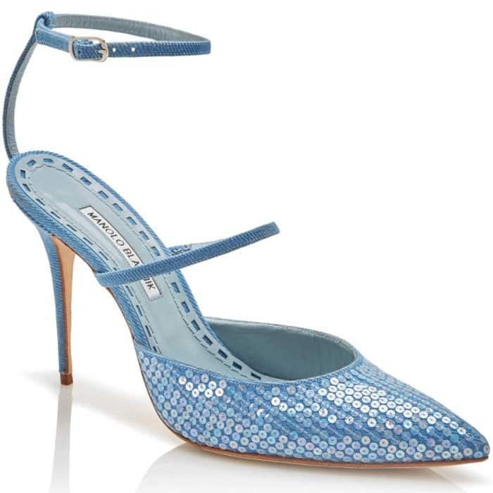 Manolo Blahnik x Rihanna 'Sea Salts' Ankle-Strap Pumps