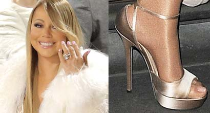 bb6a6e331ec Mariah Carey Runs Late and Takes a Boat to Her Next London Show in Jimmy  Choo Heels