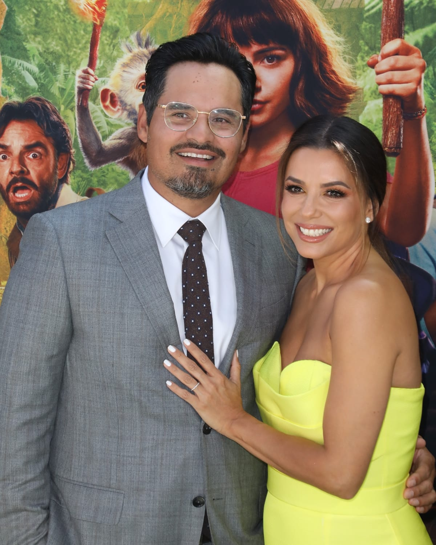 "Michael Peña and Eva Longoria attend the ""Dora and the Lost City of Gold"""
