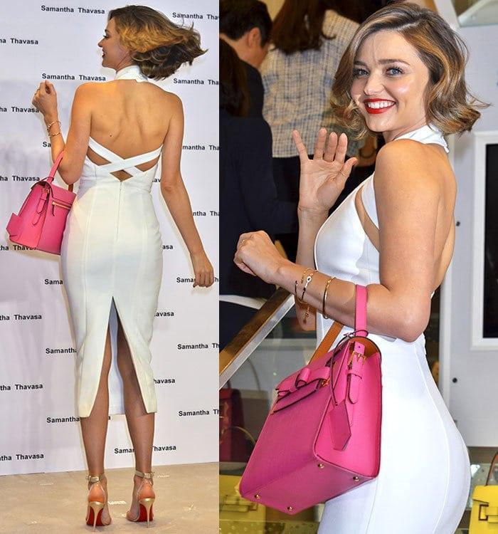 Miranda-Kerr-Misha-Collection-open-back-rear-split-white-dress