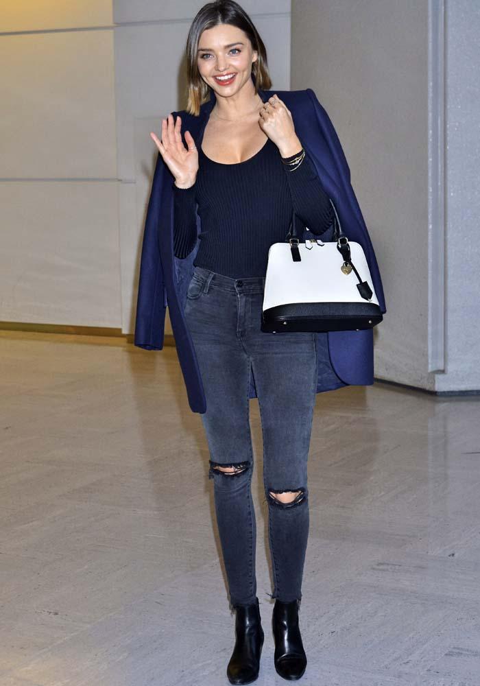 Miranda Kerr Tokyo Airport Saint Laurent 2