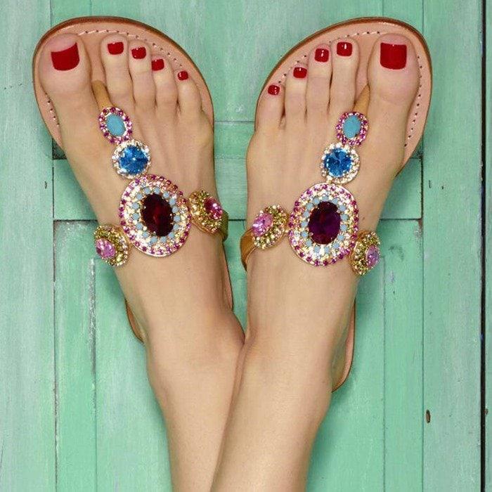 Mystique Jewel-Embellished Sandal