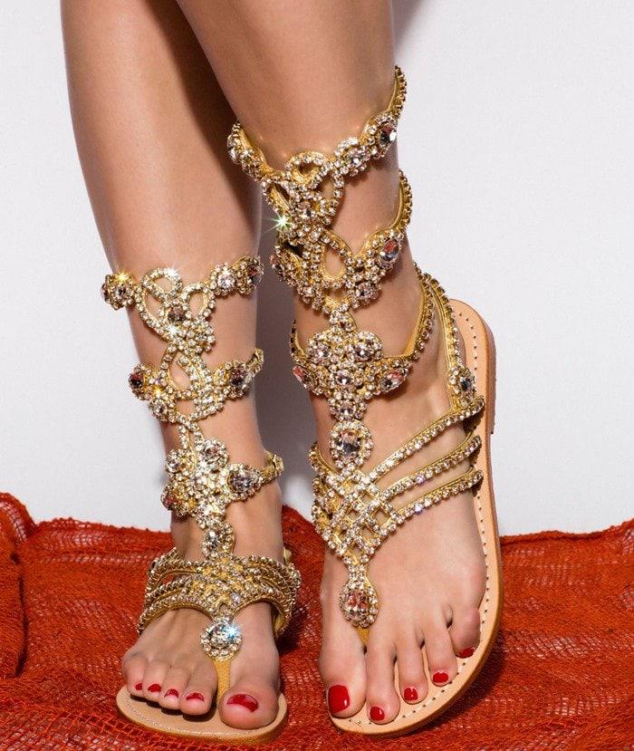 Mystique jeweled gladiator sandals
