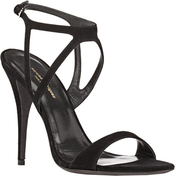 Narciso Rodriguez Cutout Carolyn Sandals in Black