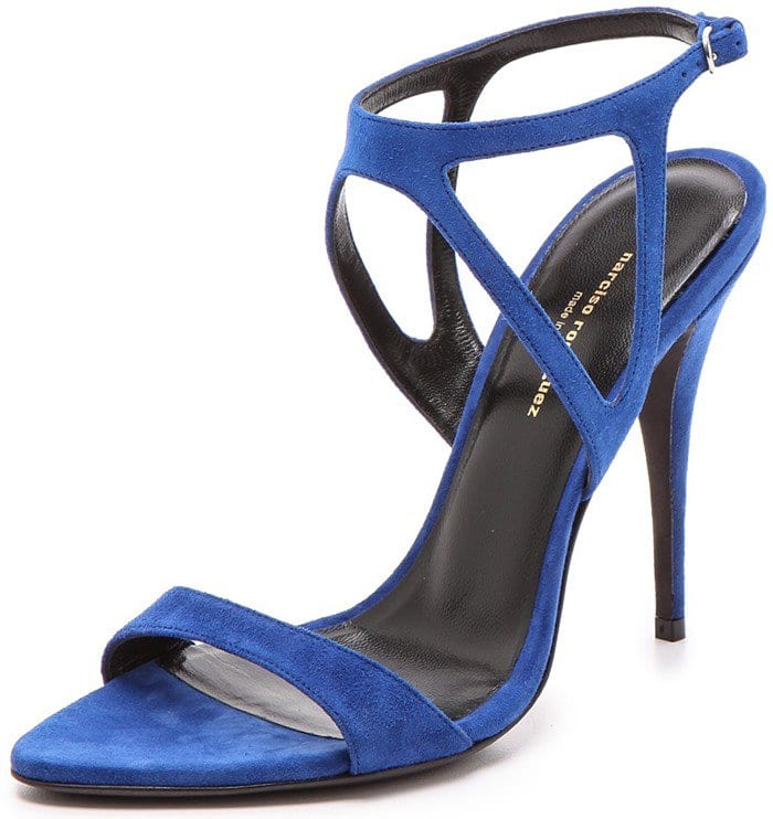 Narciso Rodriguez Cutout Carolyn Sandals in Blue