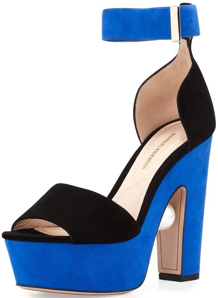 Nicholas Kirkwood Maya Platform Sandals in Electric Blue
