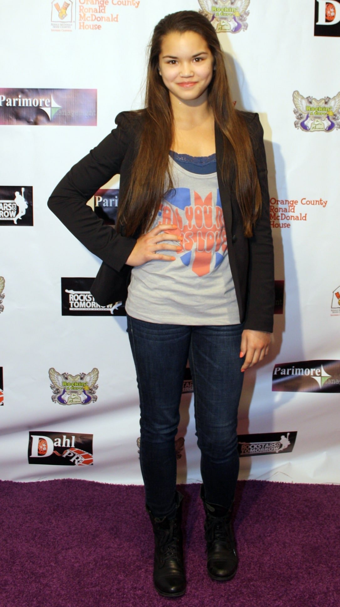 Paris Berelc attends Rockin' A Cure 4 CF in Los Angeles