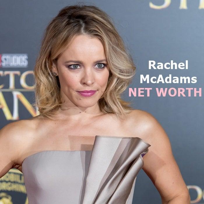 Rachel McAdams has a net worth of $16 million