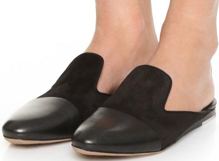 Rag & bone Sabine suede and leather slipper