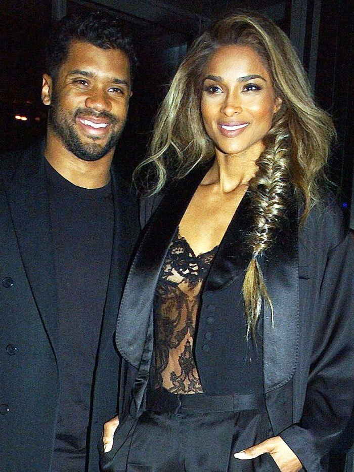 Russell Wilson Ciara Givenchy fall 2016 show 1