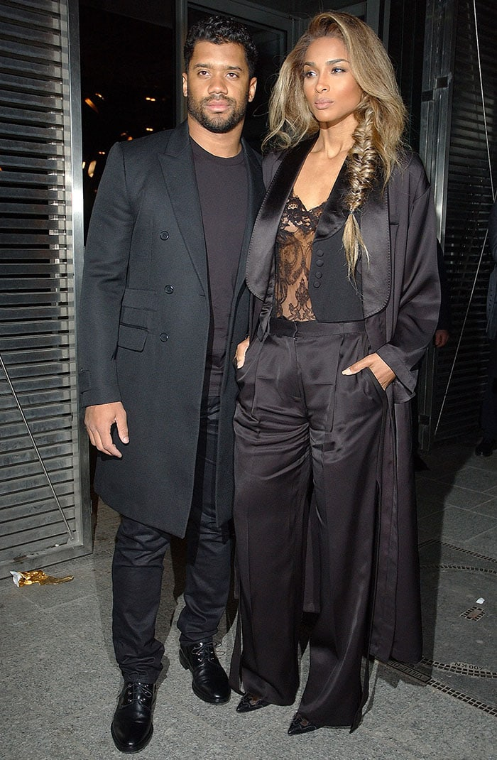 Paris Fashion Week Womenswear Fall/Winter 2016/2017 - Givenchy - Outside Arrivals Featuring: Russell Wilson, Ciara Where: Paris, France When: 06 Mar 2016 Credit: WENN.com **Not available for publication in France, Belgium, Spain, Italy**