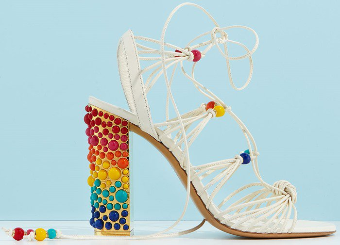 Salvatore Ferragamo Rainbow Beaded Gladiator Sandals