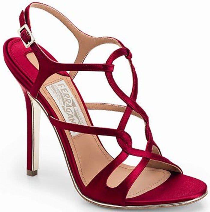 Salvatore Ferragamo Twisted Satin Sandals