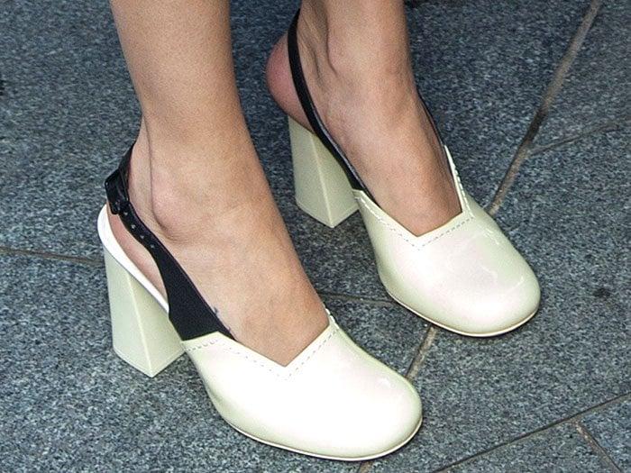 Selena Gomez Celine fall 2014 slingback pumps