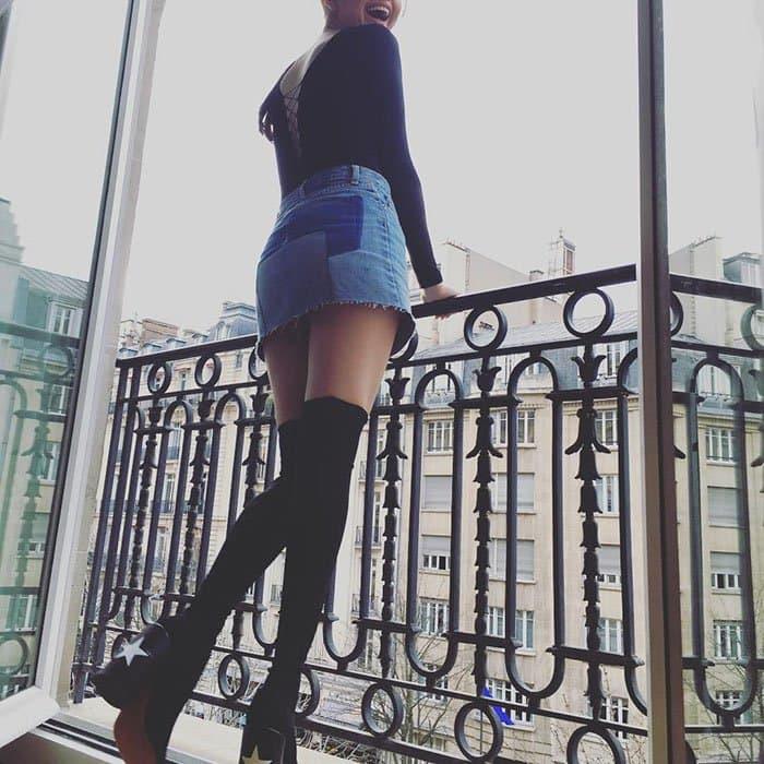 "Selena Gomez's Instagram post captioned, ""We made it Paris"""
