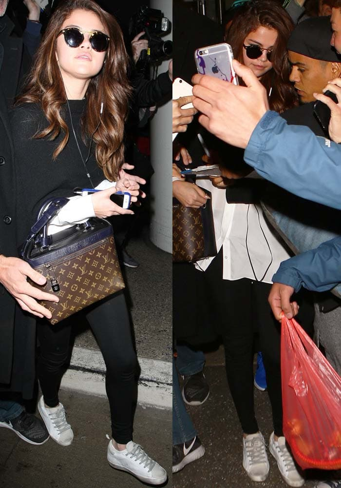 Selena-Gomez-LAX-Heathrow-Golden-Goose-2