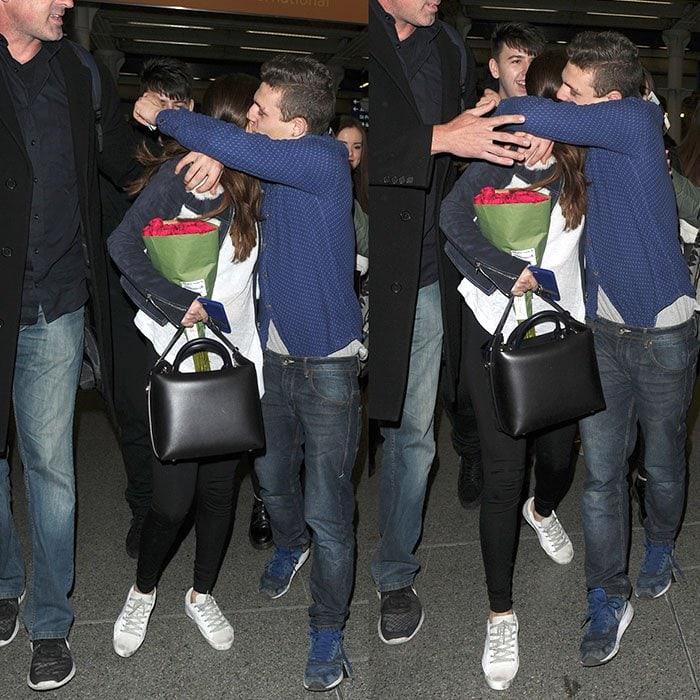 Selena Gomez hug fan