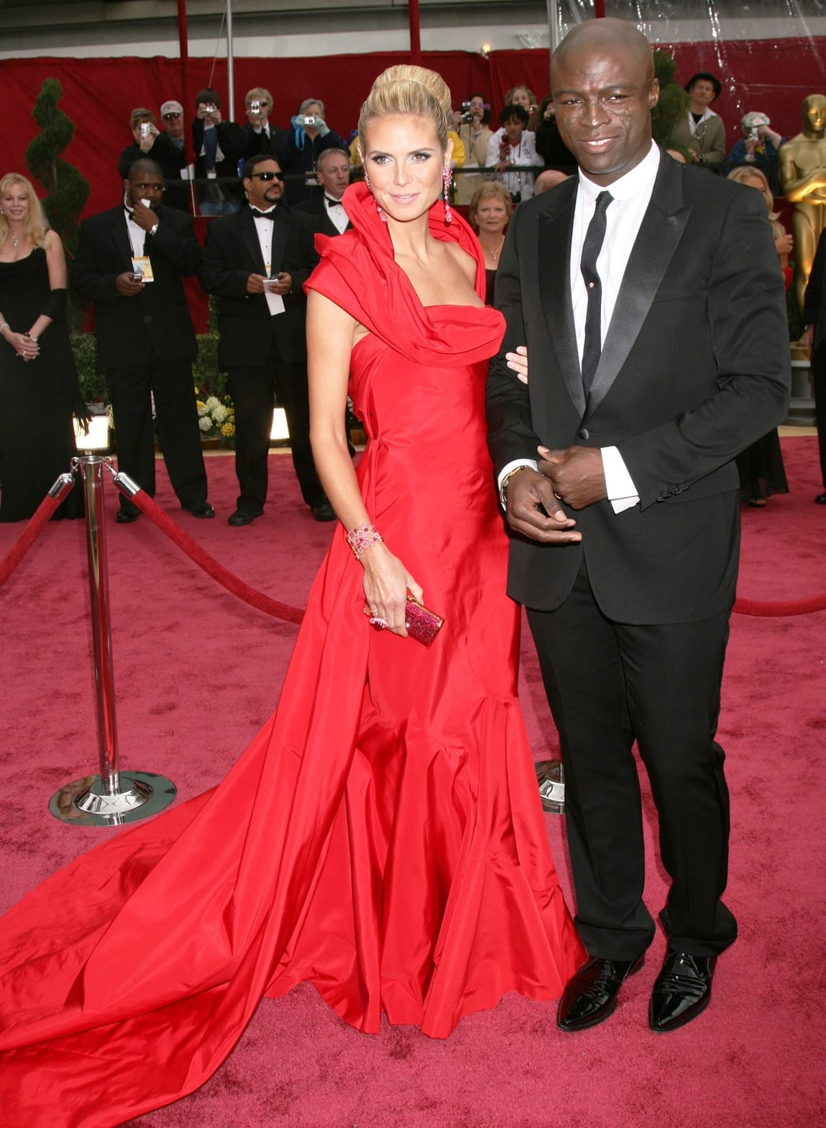 Singer Seal and TV personality Heidi Klum arrive at the 81st Annual Academy Awards