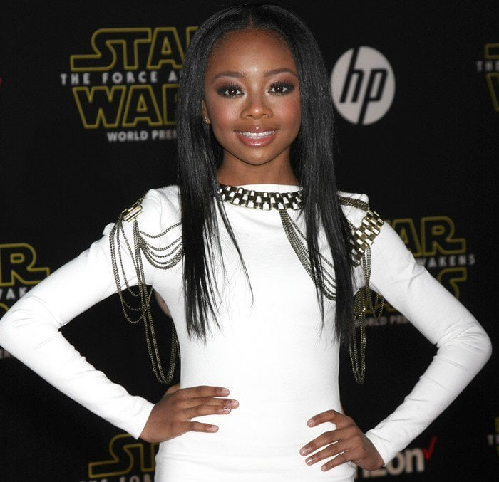 Skai Jackson at the premiere of Star Wars: The Force Awakens
