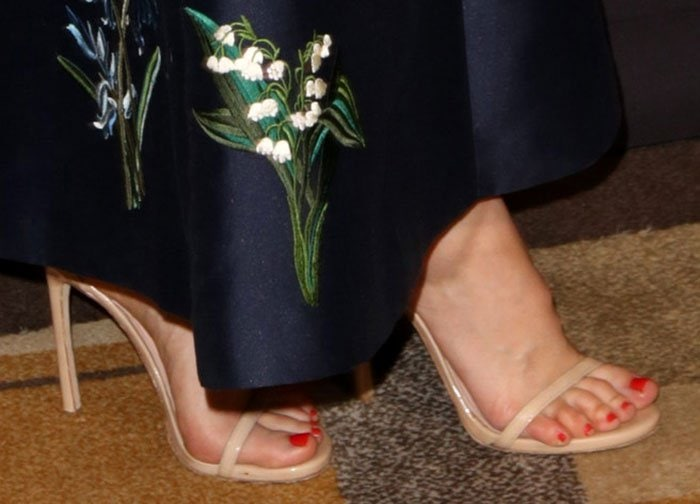 Sophia-Bush-Stuart-Weitzman-Nude-Sandals