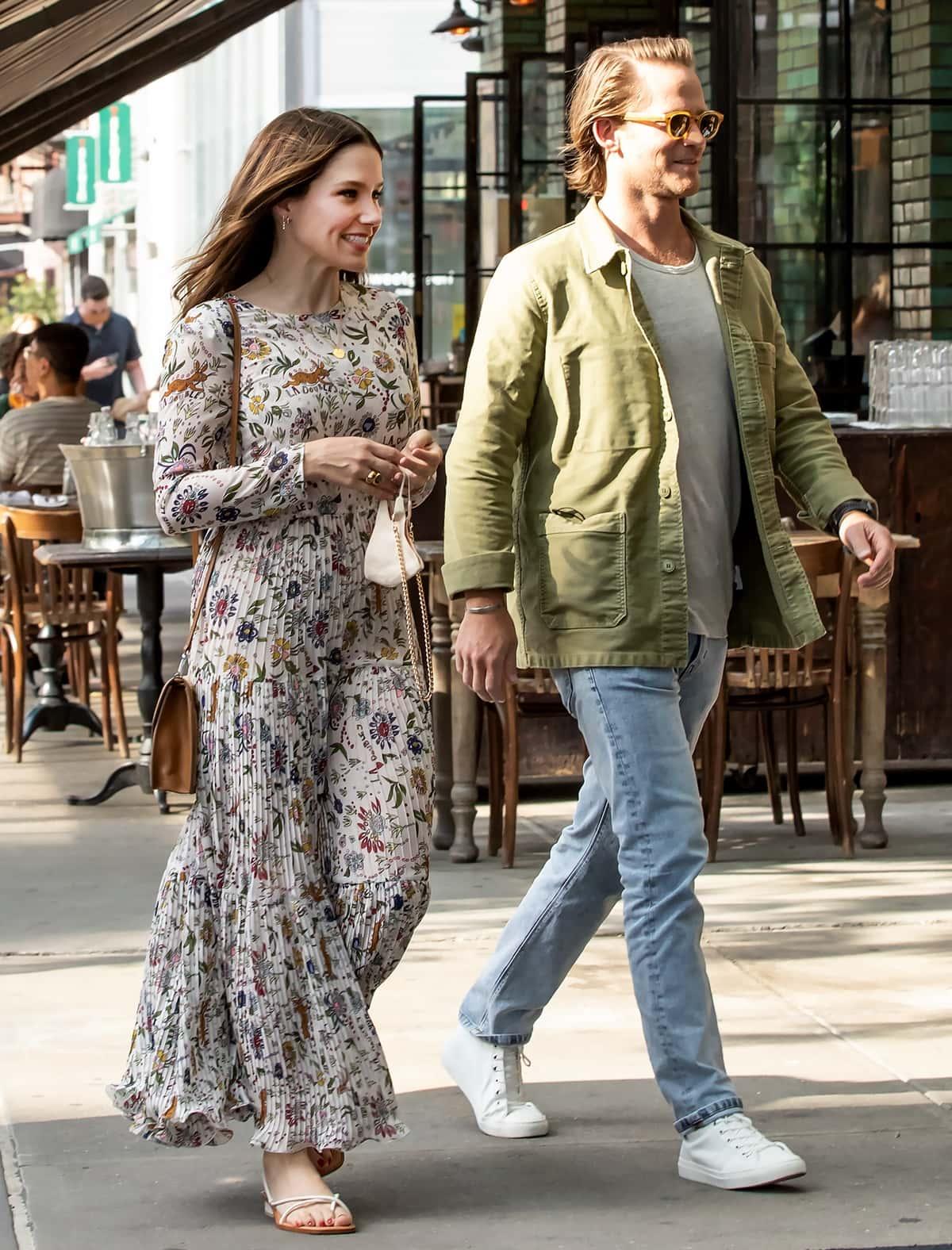 Sophia Bush and her boyfriend Grant Hughes on a date