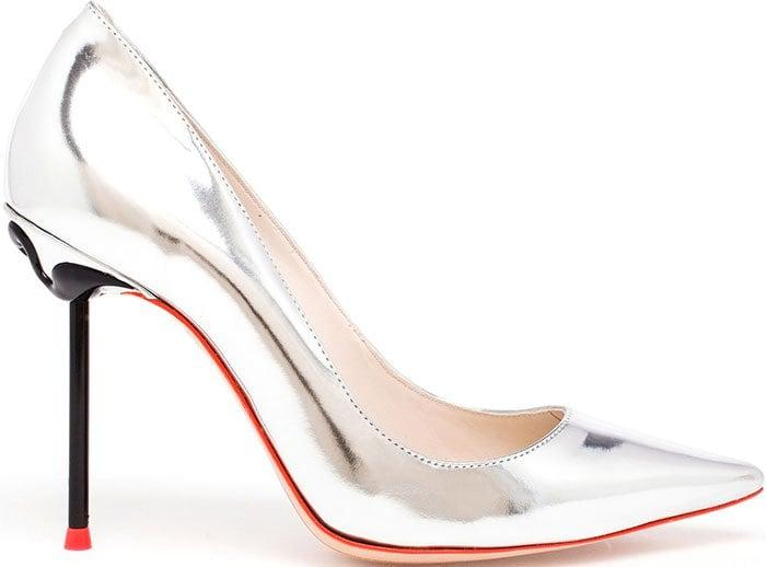 Sophia Webster Coco Flamingo Pumps Silver