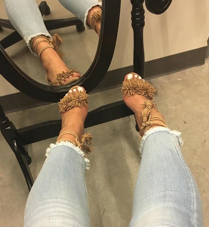 Steve Madden 'Sassey' Fringe Sandals