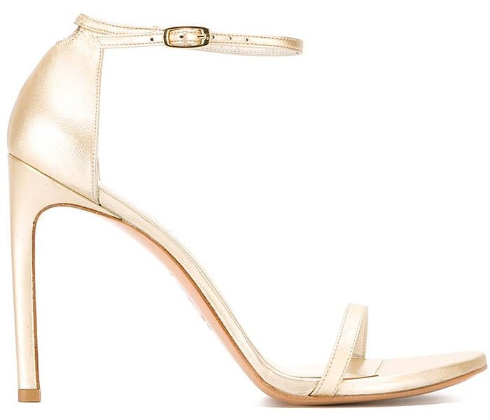 Stuart Weitzman Nudist sandals gold