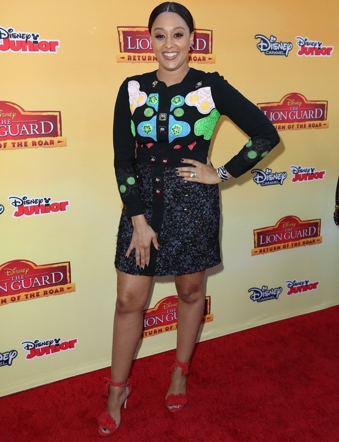 Tia Dashon Mowry-Hardrict, known by her maiden name Tia Mowry, at the VIP screening of 'The Lion Guard: Return of the Roar' held at Walt Disney Studios in Burbank on November 14, 2015