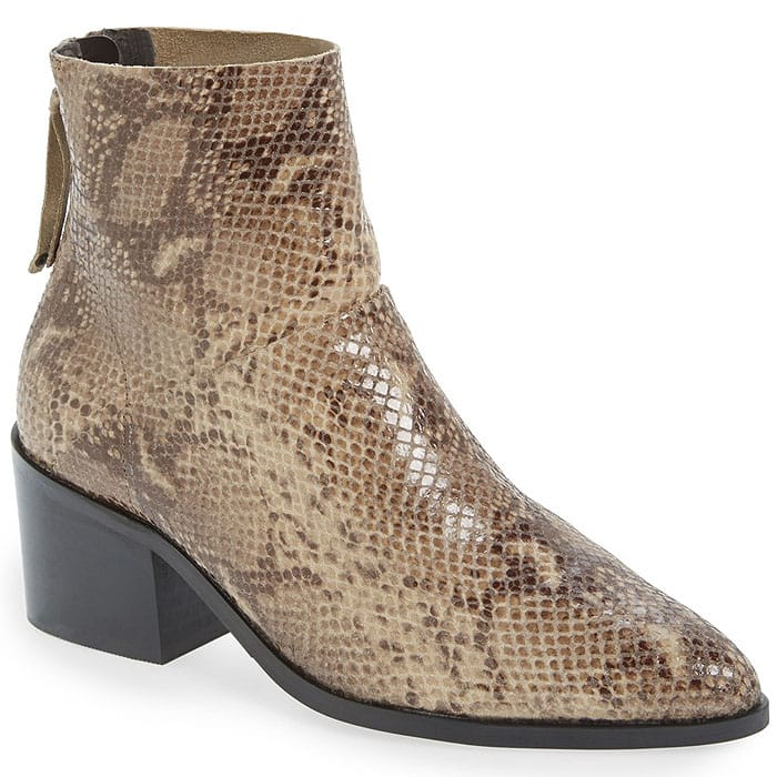 Topshop Midnight snake ankle boots