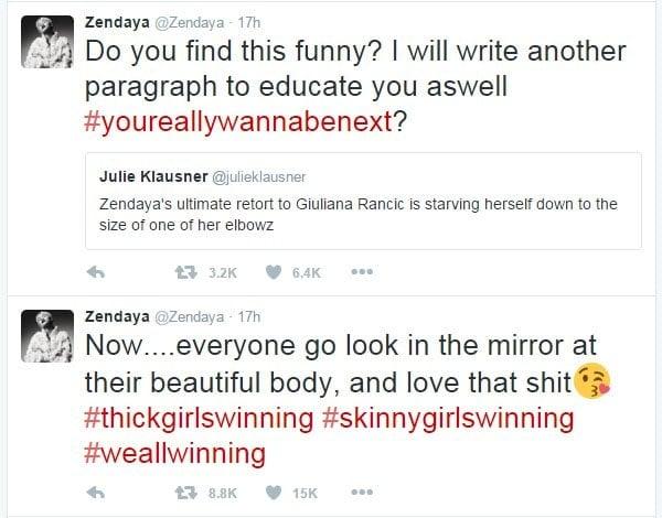 Zendaya Julie Klausner tweet