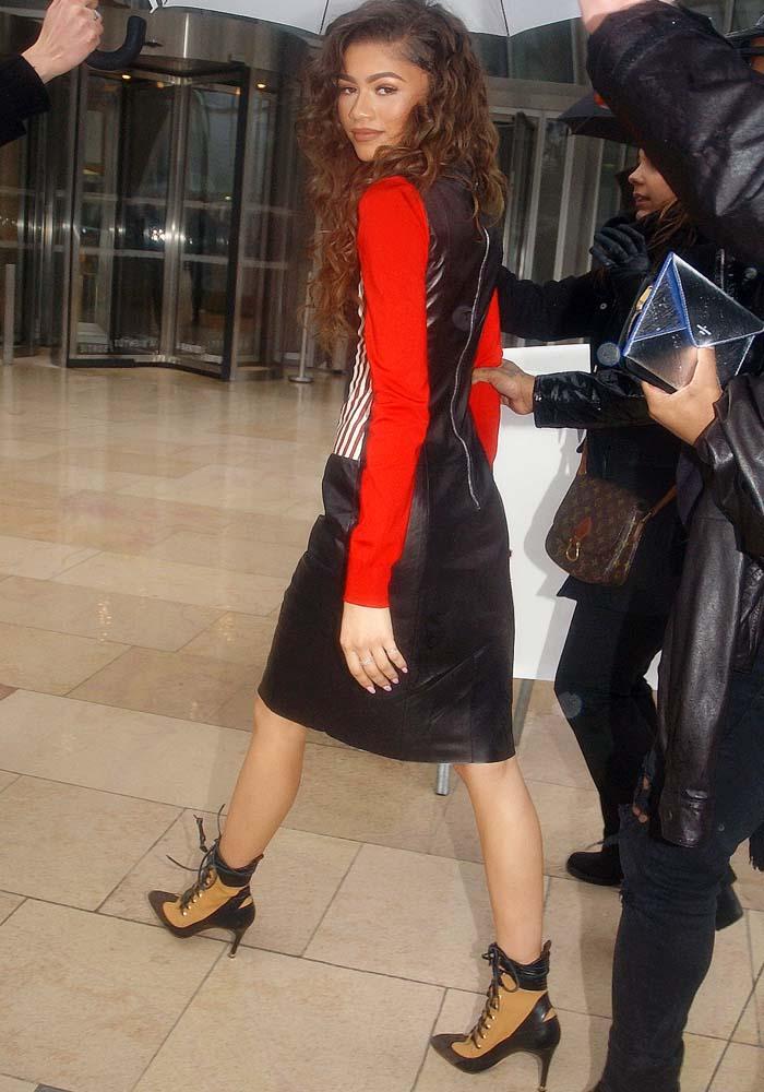Zendaya wears head-to-toe Louis Vuitton to Paris Fashion Week