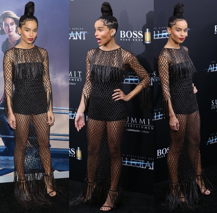 New York premiere 'Allegiant' held at AMC Loews Lincoln Square 13 - Arrivals Featuring: Zoe Kravitz Where: New York, New York, United States When: 15 Mar 2016 Credit: Andres Otero/WENN.com