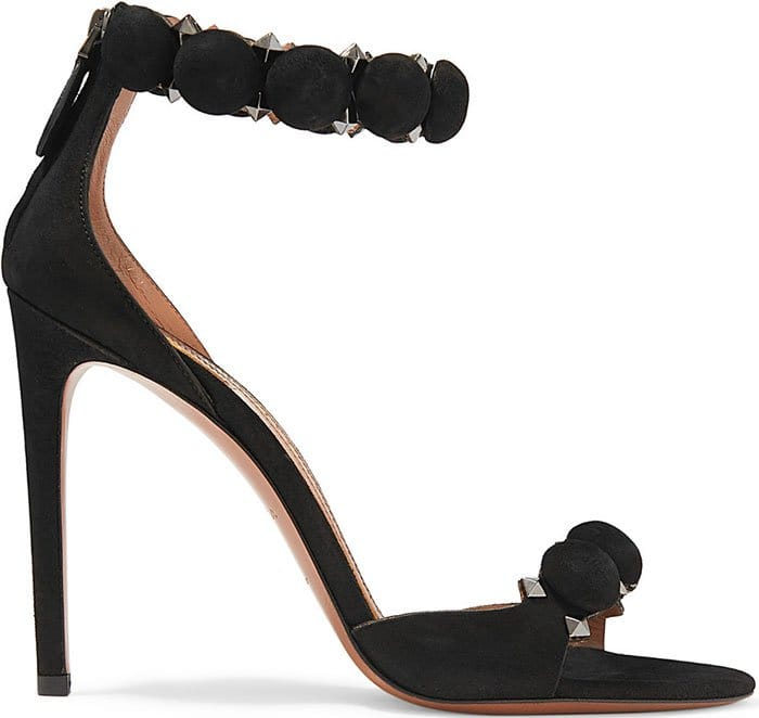 Alaia-Studded-Suede-Sandals