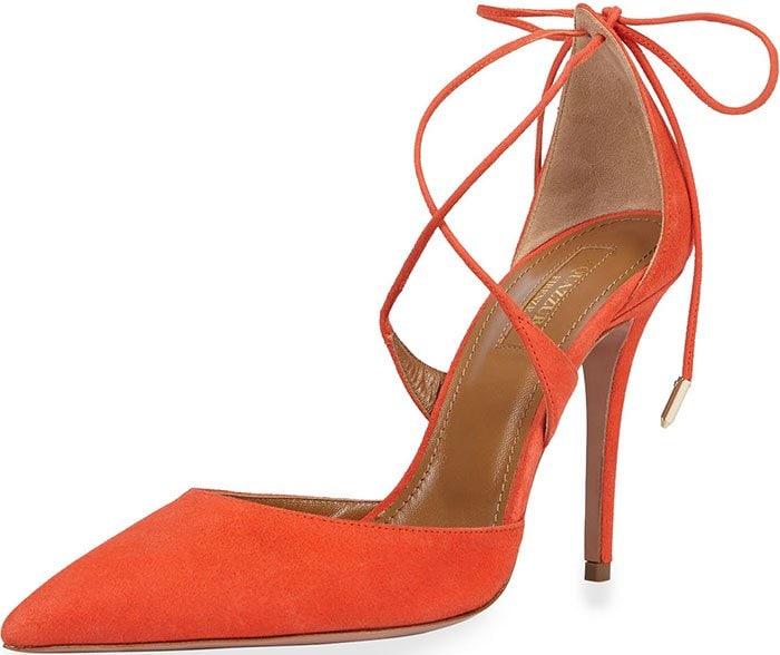 Aquazzura-Matilde-Crisscross-Tie-Back-Pumps-Orange-Suede