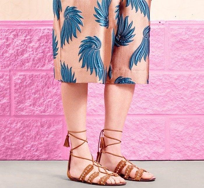 Aquazzura Tulum Flat Laidback Chic Sandals