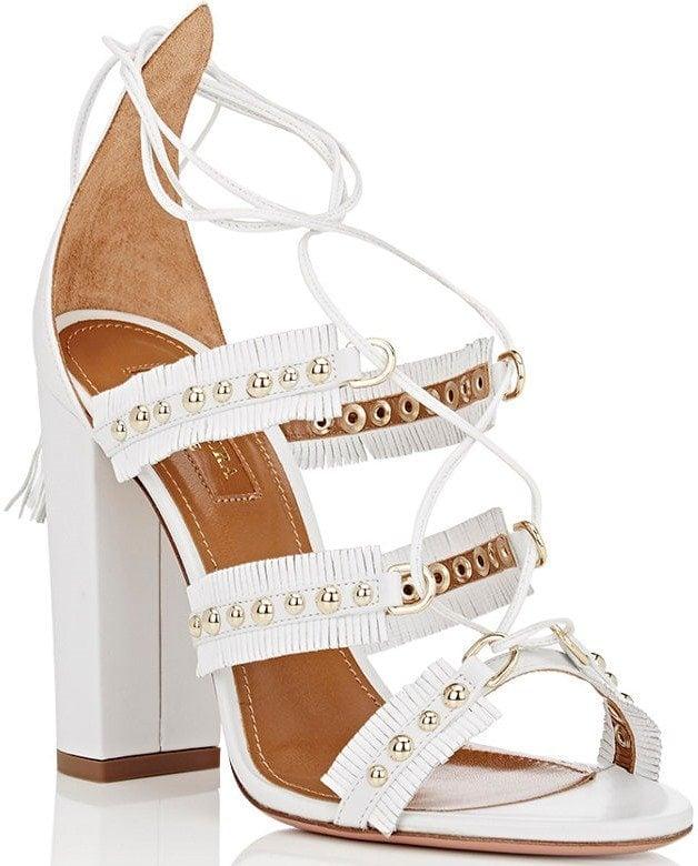 Aquazzura Tulum Sandals in White