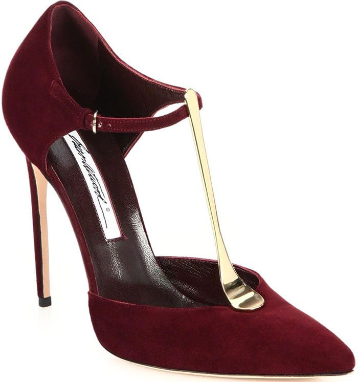 Brian-Atwood-Astral-Suede-Metal-T-strap-Pumps