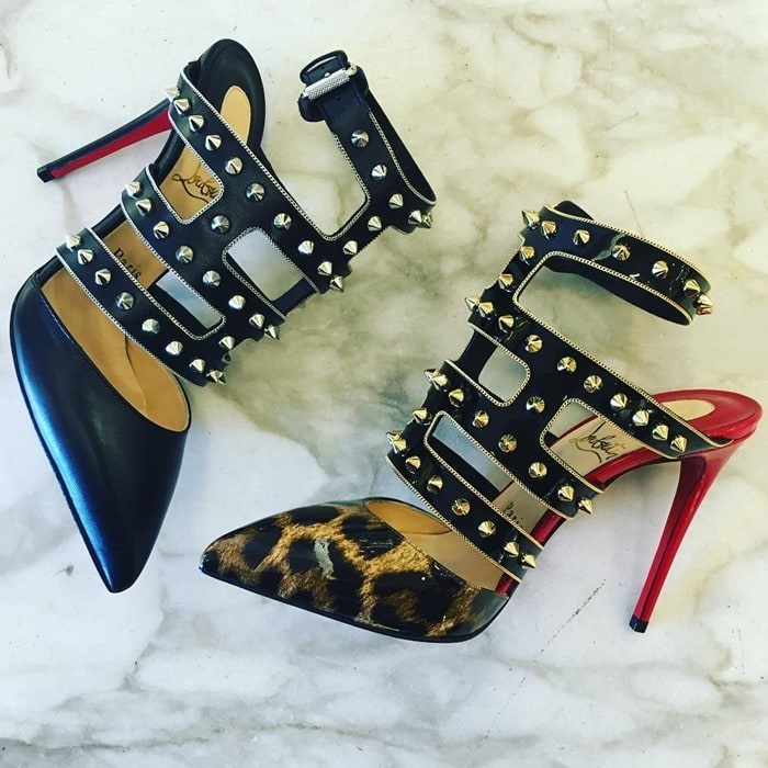 573763c3c534 ... 100 spiked leopard-print patent-leather pumps. CHRISTIAN LOUBOUTIN  Tchicaboum Animal Print. CHRISTIAN LOUBOUTIN Tchicaboum Pumps