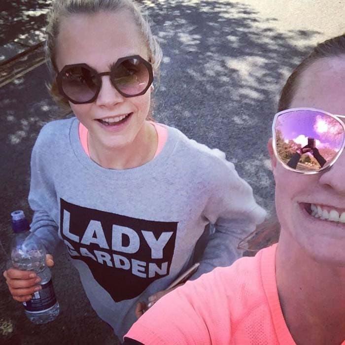 Cara Delevingne Lady Garden Run Adidas IG