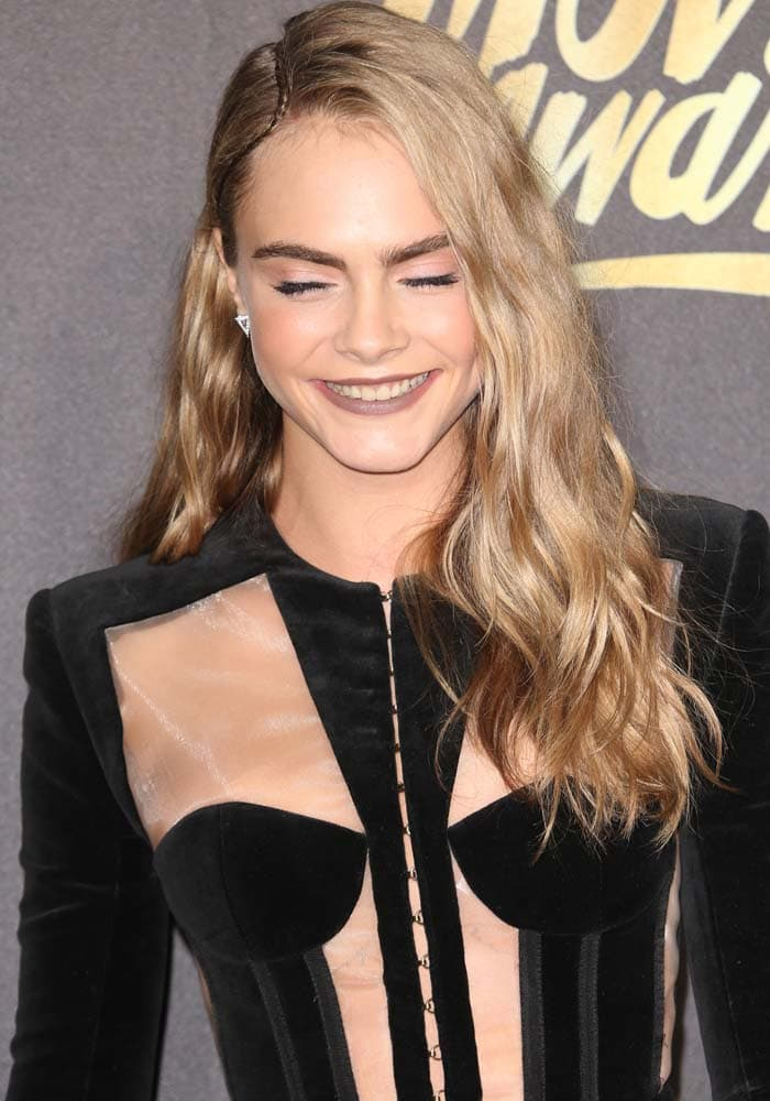 Cara Delevingne shared a little laugh for the cameras