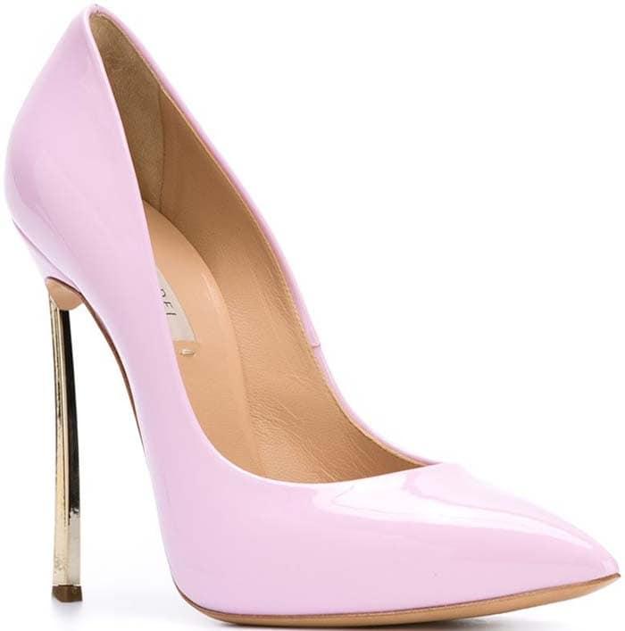 Casadei Blade Pumps Pink Gold