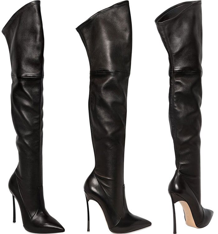 Casadei Blade Stretch Leather Boots