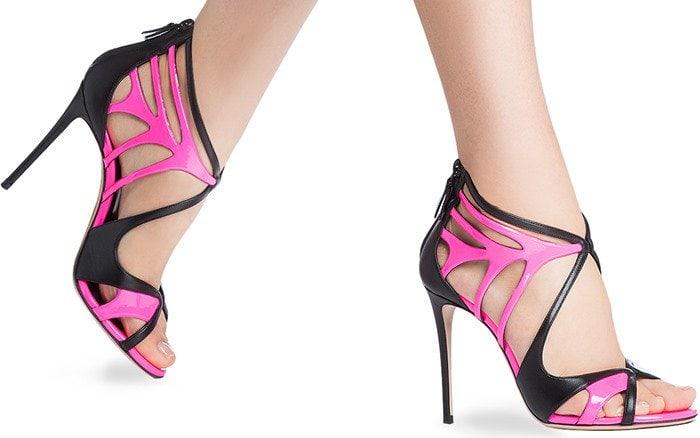 Casadei Two-Tone Neon Sandals