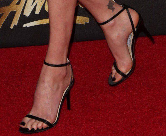 Charlize Theron in Jimmy Choo 'Minny' sandals