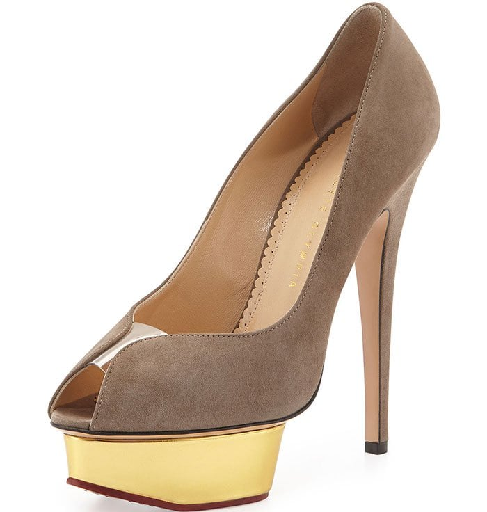 Suede Metallic Charlotte Olympia Daphne Pumps