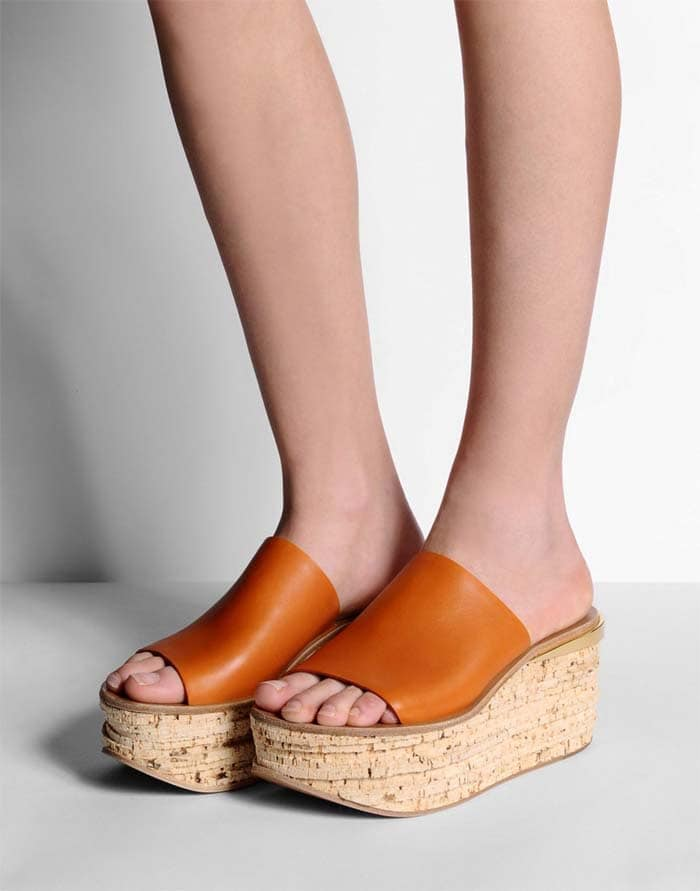 """Chloé """"Camille"""" Cork Leather Mules"""