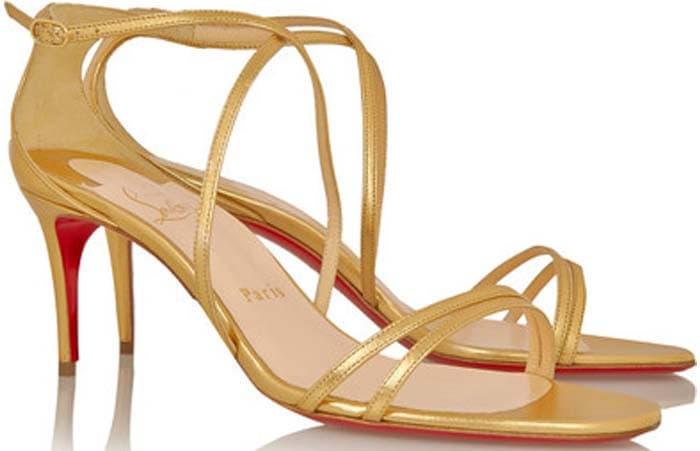 Christian Louboutin 'Gwinee' Metallic Leather Sandals