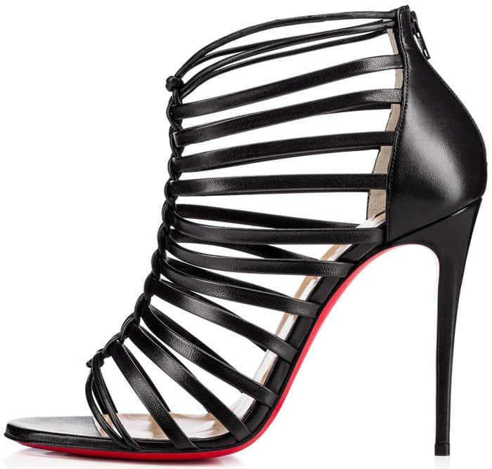 Christian Louboutin Milla 100 black leather sandals